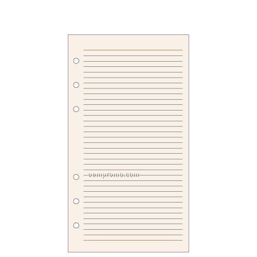6-hole Notes Pages: 54 Count