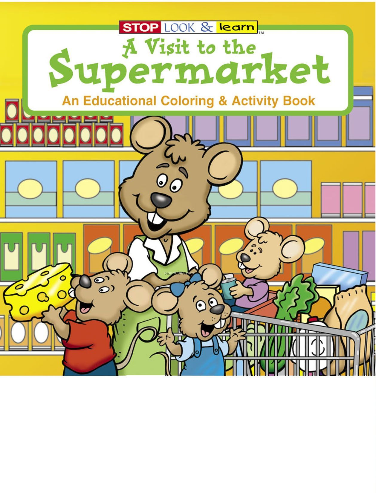 A Visit To The Supermarket Coloring Book Fun Pack