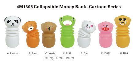 Collapsible Money Bank--cartoon Series