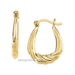 Ladies' 14ky 16x14-1/2 Hoop Earring