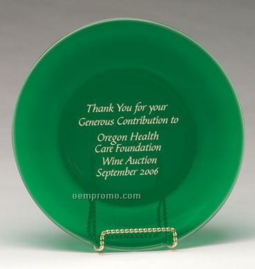Large Round Emerald Plate Award