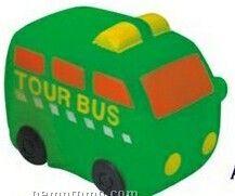 Rubber Tour Bus Toy