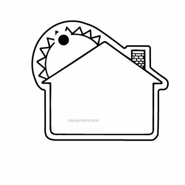 Stock Shape Collection House W/ Large Sun Key Tag