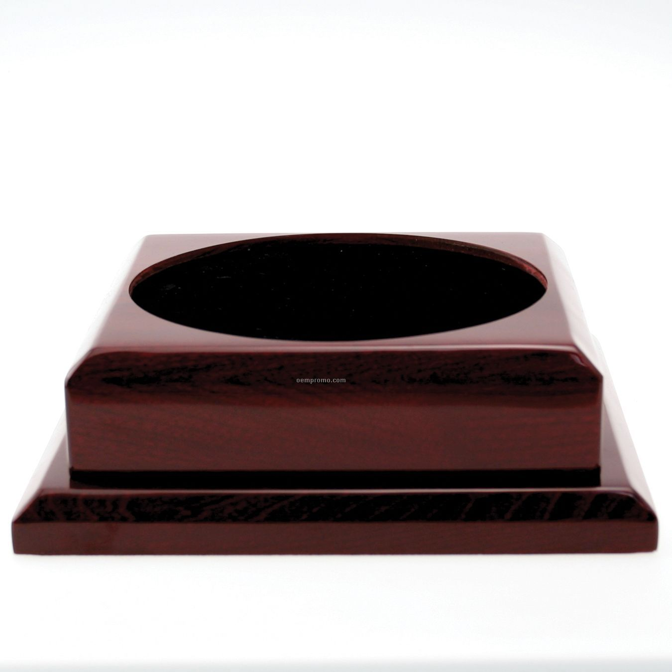 X-large Square Rosewood Base W/ Plain Brass Plate