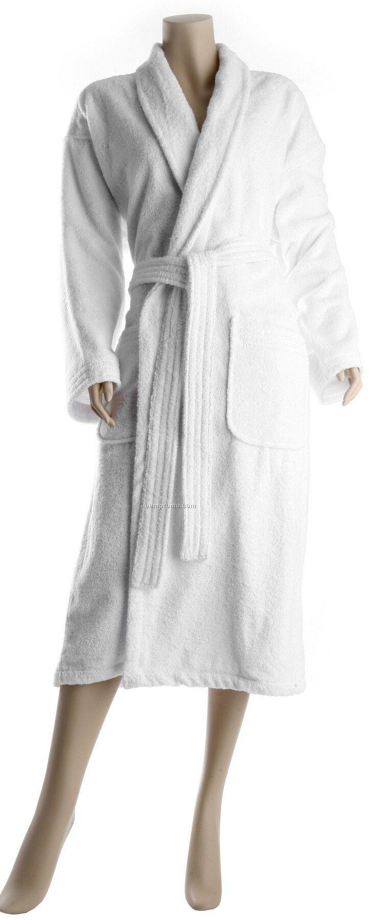 "48"" Luxury Loop Terry Pleat Back Hotel Shawl Collar Robe"