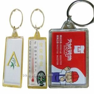 Key Tag W/Compass And Thermometer
