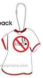 No Smoking Sign T-shirt Zipper Pull