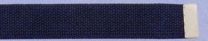 Plain Web Belt With Leather Tip (Hunter)