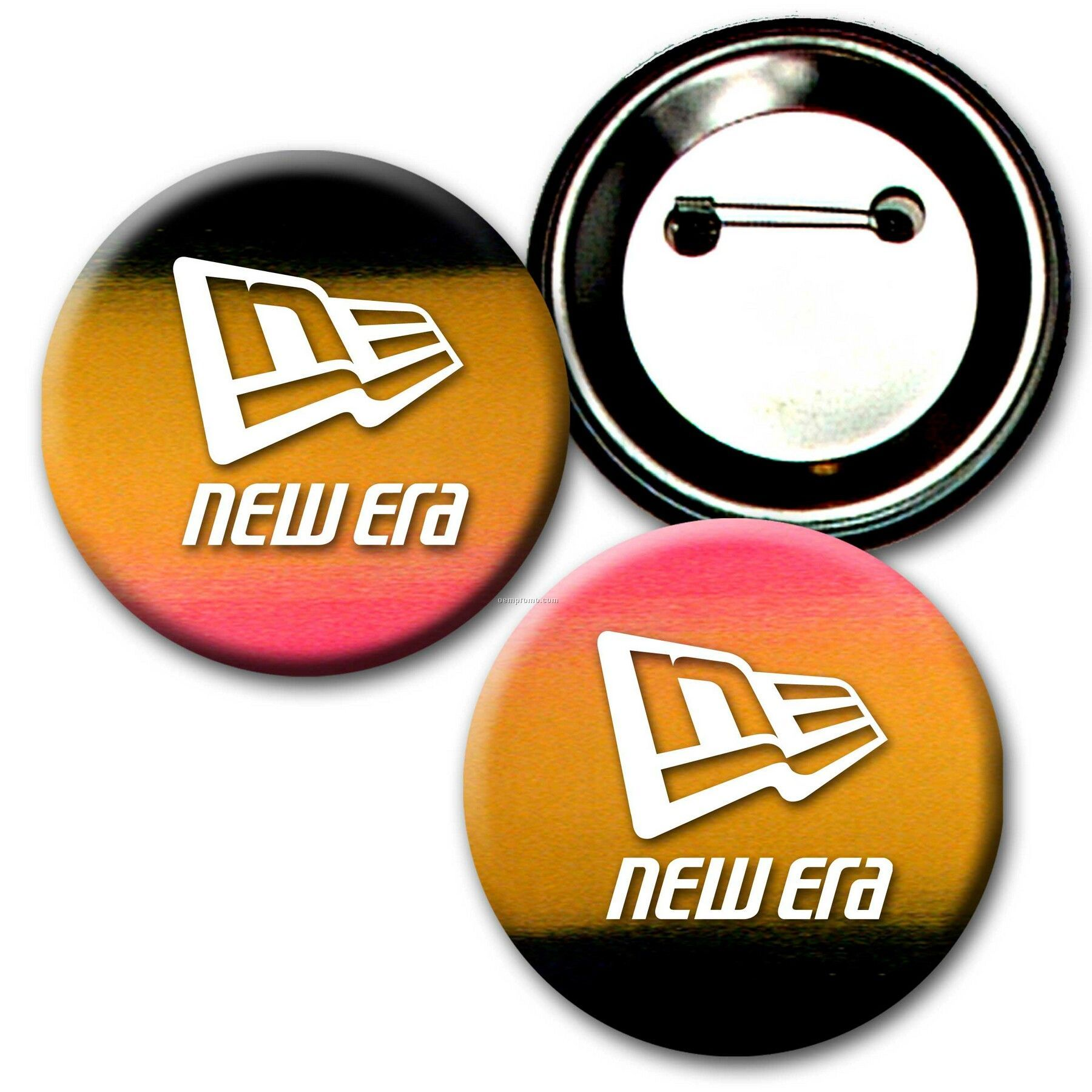 """2"""" Diameter Buttons W/Changing Colors Lenticular Effects (Imprinted)"""