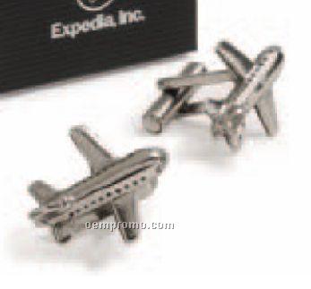 Aviator 3 Dimensional Molded Airplane Cufflinks