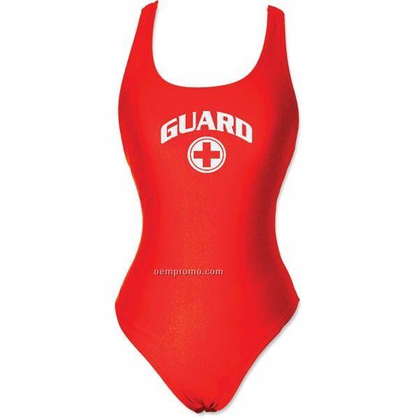 Red Women's Aggressor Guard Suit W/ Custom Imprint (26-44)