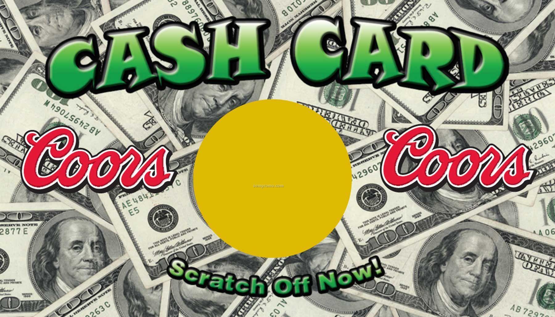 """Scratch Off Cards - Cash Card (2""""X3.5"""")"""