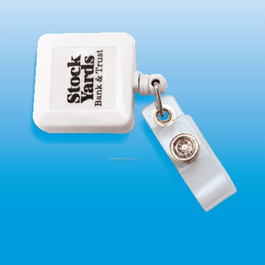 Square Badge Holder W/ Retractable Cord