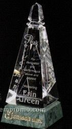 """Verde Gallery Crystal & Marble Virden Peak Award (8 1/4"""")"""