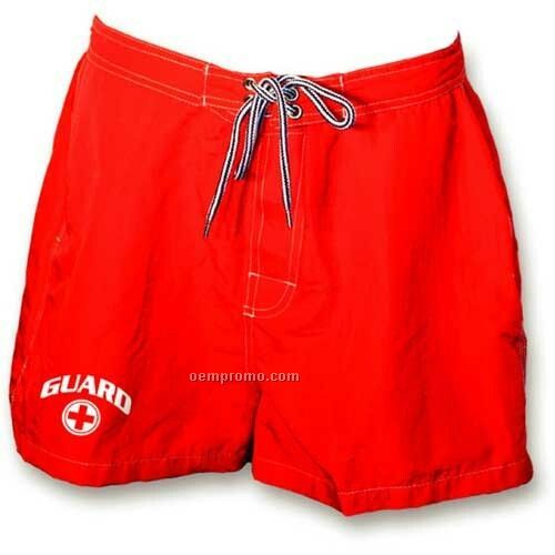 Red Women's Eclipse Guard Board Shorts W/ Custom Embroidery (28-42)