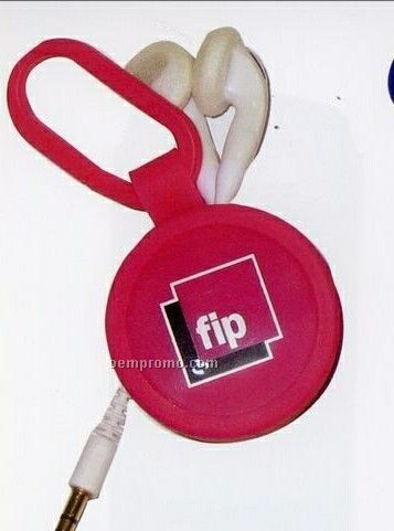 Retractable Earbuds With Plastic Clip
