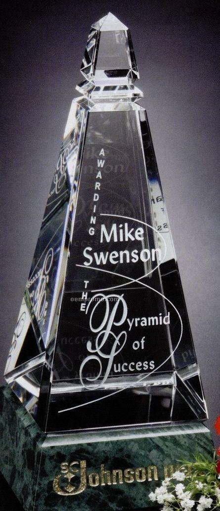 """Verde Gallery Crystal & Marble Virden Peak Award (10"""")"""