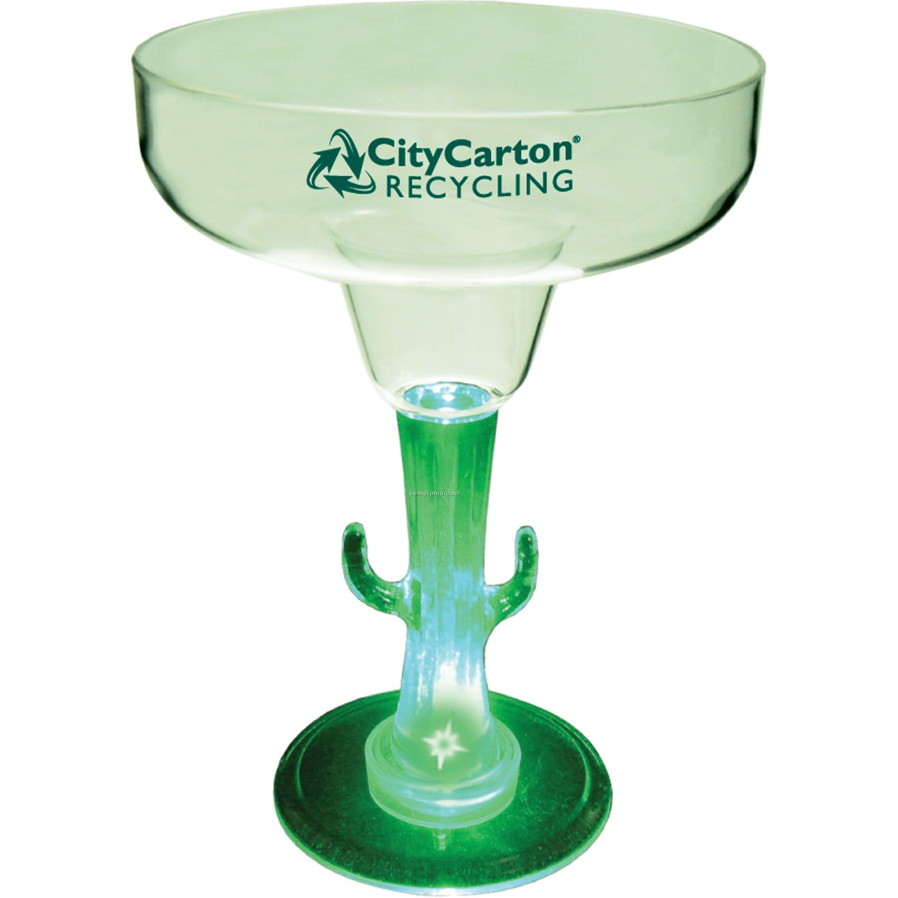12 Oz. Lighted Novelty Stem Margarita Glass