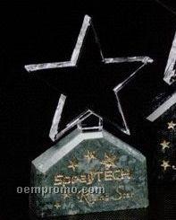 "Verde Gallery Crystal & Marble Verdant Star Award (6"")"