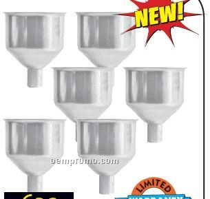 Maxam 6 PC Large Stainless Steel Flask Funnel Set