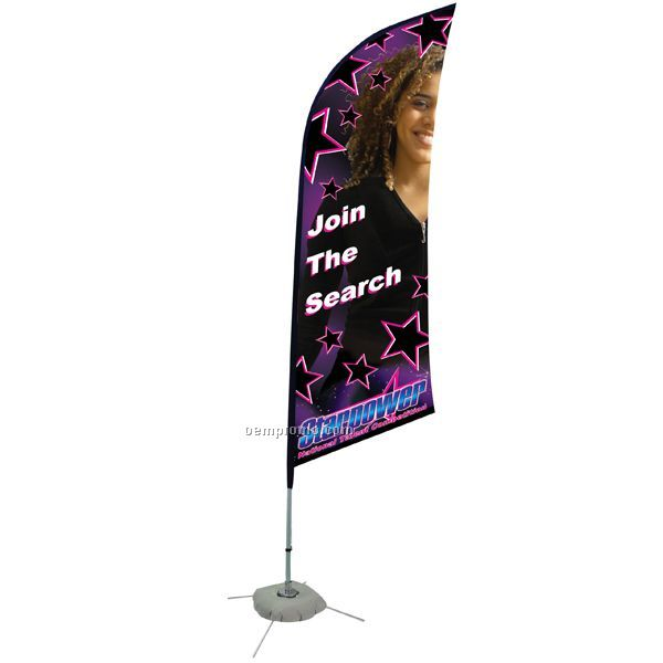 8' Razor Sail Sign Double Sided Banner Kit