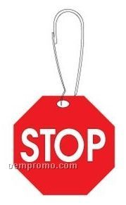 Stop Sign Zipper Pull