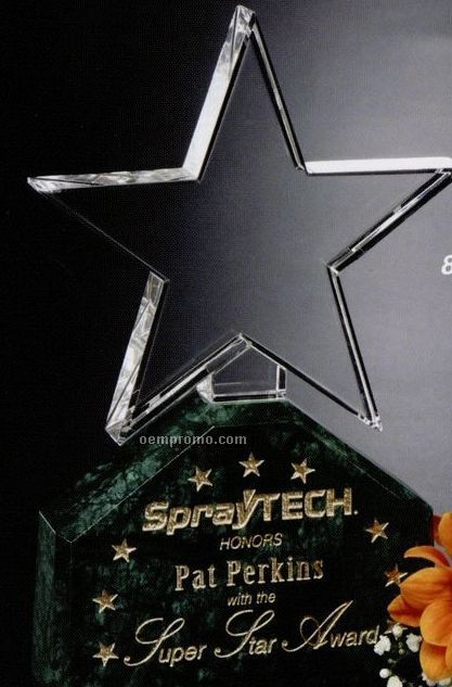 "Verde Gallery Crystal & Marble Verdant Star Award (8"")"