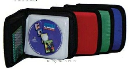 "24 CD Holder W/ 2 Inside Mesh Pockets (6-1/2""X6-1/2""X1-1/2"")"