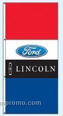 Double Face Dealer Interceptor Drape Flags - Ford/Lincoln