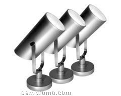 Silver Conical Strobe Spotlight W/ Adjustable Stand & 20 White Led's