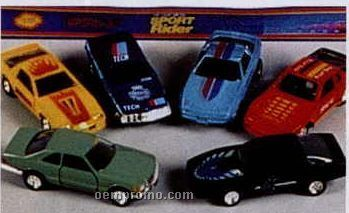 """4 1/2"""" Die Cast Pull Back Sport Cars (6 Assorted)"""