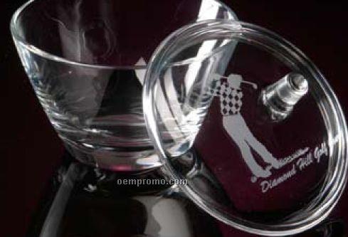 "Bellagio Crystalline Covered Bowl (5"")"
