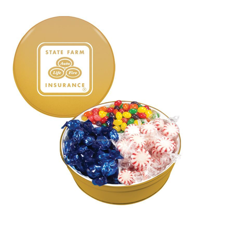Gold The Royal Tin With Mints, Jelly Beans And Hard Candy