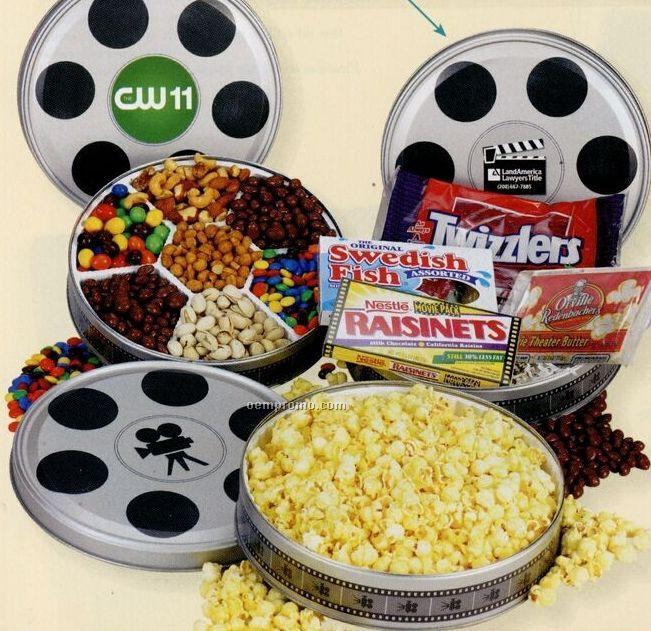 Large 7 Way Snack In Large Film Reel Tin