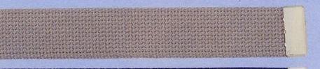 Plain Web Belt With Brass Or Silver Tip (Khaki)