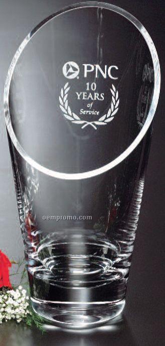 "Crystal Westcott Vase Award (10 1/2"")"