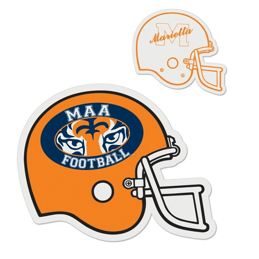 "Football Helmet Die Cut Vehicle Magnet (12"")"