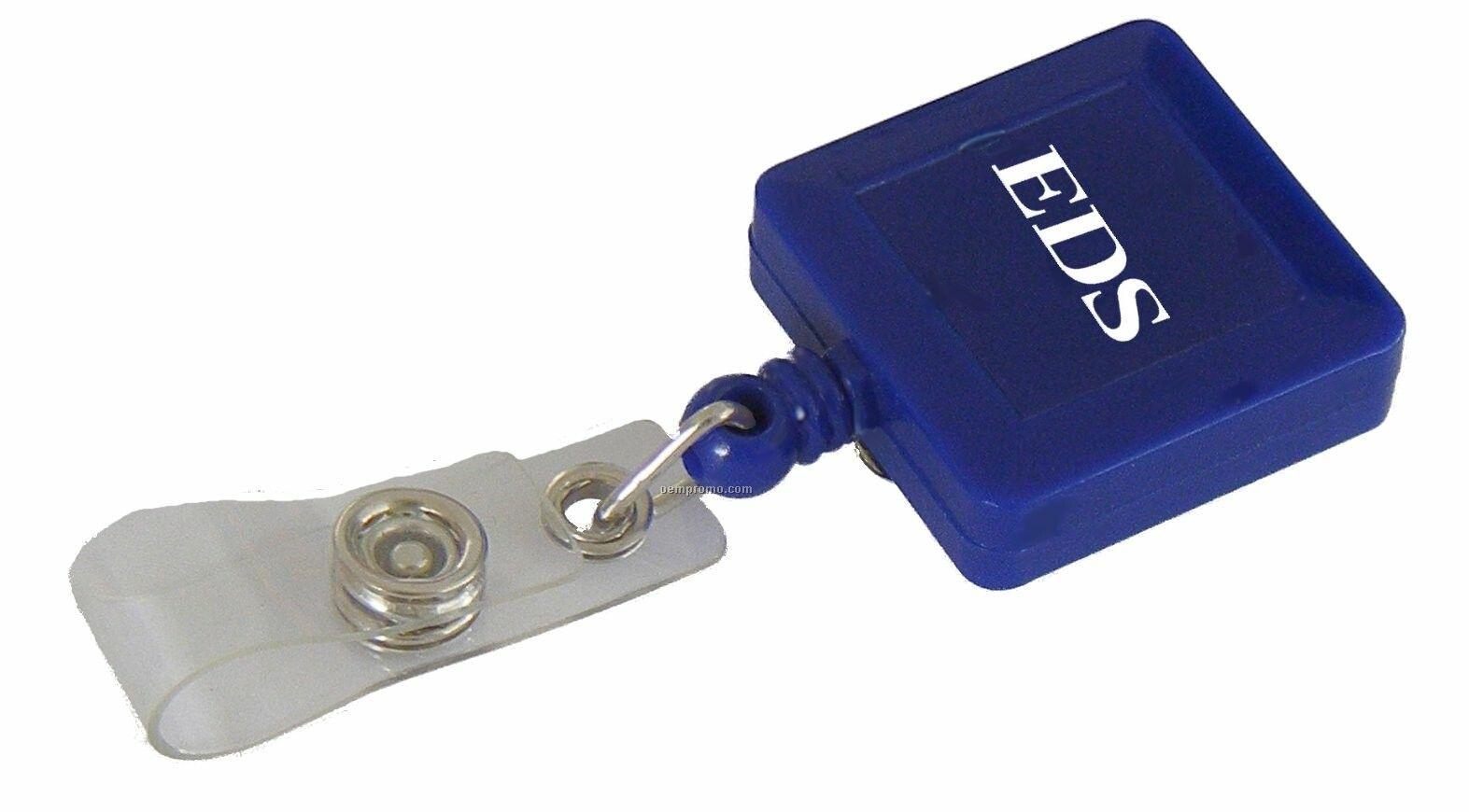 Retractable Badge Holder W/Metal Belt Clip