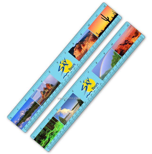 Ruler W/ National Parks Lenticular Flip Effect ( Custom)