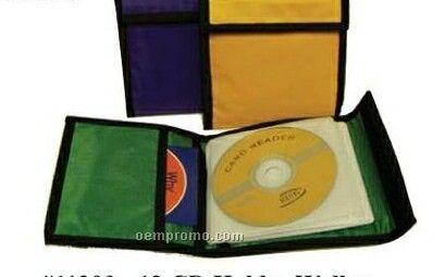 "12 CD Holder W/ Velcro Closure (6""X6"")"