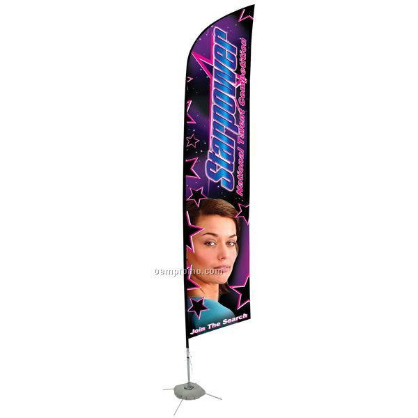 14' Razor Sail Sign Double Sided Sign Banner Kit