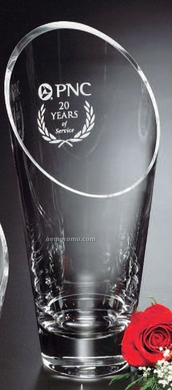 "Crystal Westcott Vase Award (11 1/2"")"