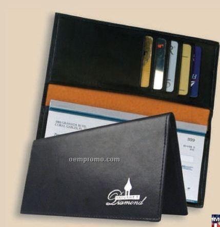 Full Grain Leather Corporate Checkbook