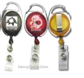 Translucent Carabineer Badge Holder