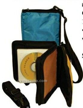 "CD Player Carrying Case W/ 12 CD Holder (6-3/4""X7""X2"")"