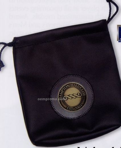 "Leatherette Valuables Vinyl Pouch W/ 2"" Club Lorente Medallion"
