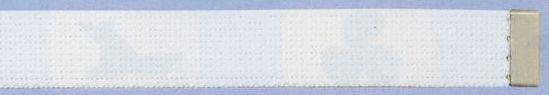 Plain Web Belt With Adjustable Leather Tip (White)