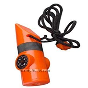 Plastic Whistle Compass With LED Light