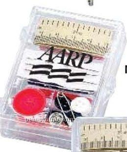 Premium Sewing Kit In Plastic Re-closable Case W/ Scissors