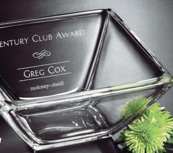 "Clear Crystaline Bowl Award (9"")"
